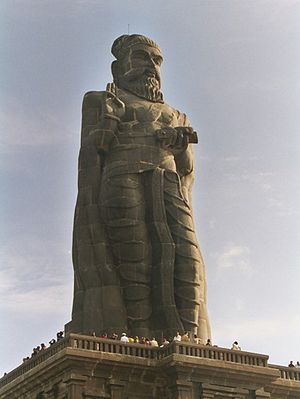 Thiruvalluvar Statue at Kanyakumari with a height of 133 feet